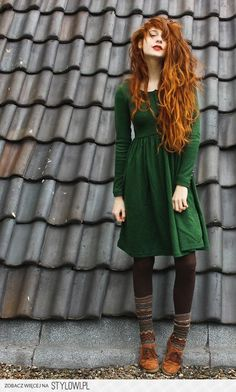 I think the dress is adorable, but her hair is amazing!!