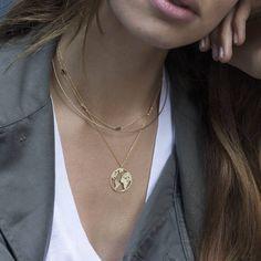 Etsy World map necklace, Globetrotter necklace, Gold (affiliate)
