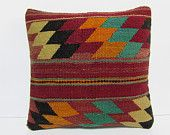 kilim pillow accent pillow case kilim throw pillow cotton pillow case bed decorative pillow floor pillow cover decorative throw pillow 29500
