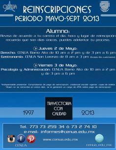 Reinscripciones Mayo- Septiembre 2013