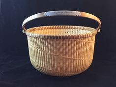 My Nantucket Baskets are hand-woven by me on a variety of traditional and our own unique moulds. I use both domestic and exotic hardwoods for bases, handles and most rims. For a more detailed descr…