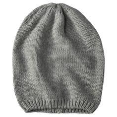 Grey Flat Knit Skull Cap