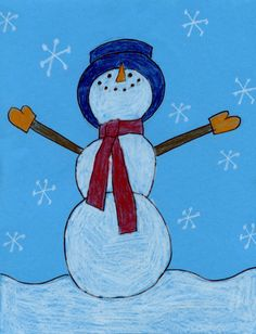 Art Projects for Kids: Snowman Drawing
