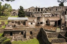 The well-preserved city of Pompeii as it is today
