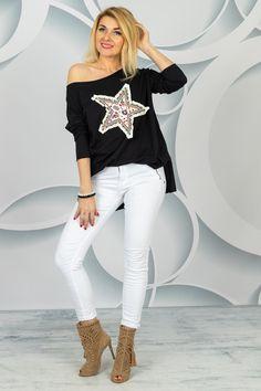Benetton, Spring Collection, White Jeans, Pants, Fashion, Stars, Tunic, Trouser Pants, Moda