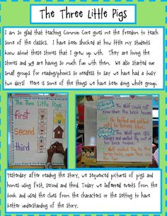 Golden Gang Kindergarten: The Three Pigs and Free Math Activities