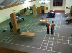 How to create a life-size game of Clue. I created this for a youth group, but it can be modified for a classroom or birthday party.