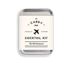Old Fashioned Carry-On Cocktail Kit   Unique finds that'll be sure to please your go-to guys.