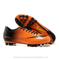 new style ac77c 0e94d Authentic Nike Mercurial Vapor IX AG Orange Black Green Soccer Cleats Nike  Soccer Shoes, Football