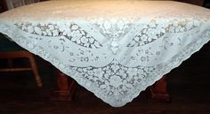 Vintage Quaker Lace Overlay Lace by BridenetVintageLinen on Etsy