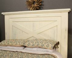 """With its country-casual style, this headboard can blend into a variety of decorating styles. It's sized to work with a Queen-size mattress, and can easily be bolted to a metal or wood bed frame. This headboard is made from standard """"1-by"""" and """"2-by"""" boards, plus a piece of beadboard plywood—all of which you can get at your local home center."""