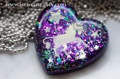 Unicorn Believer - Horse Lover - Resin Jewelry by June on Etsy