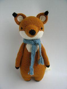 Fox with Scarf Crochet Amigurumi Pattern by LittleBearCrochets