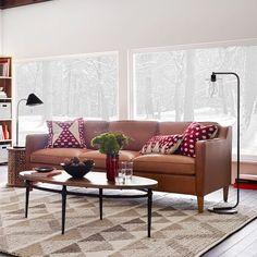 Hamilton Leather Sofa - Tan | west elm