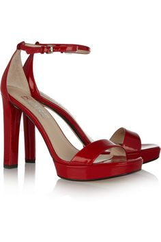 Ysabel patent leather sandals by KORS Michael Kors from the outnet