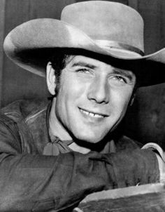 Robert Fuller Wagon Train and Laramie Cowboy Western Star Photo J Michael Doyle, Laramie Tv Series, Robert Fuller Actor, Old Western Movies, The Virginian, Tv Westerns, John Smith, Great Tv Shows, Western Cowboy