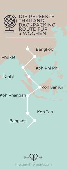 Die perfekte Thailand Backpacking Route für 3 Wochen. Eine super Route für eine 3 wöchige Reise durch Thailand. #backpacking #thailand #reisen