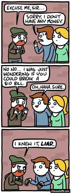 Hahahaha!!! Oh snap!