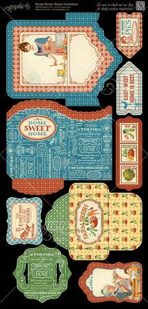Graphic 45 Home Sweet Home Tags & Pockets