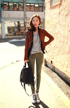 brown leather jacket  www.chuu.co.kr