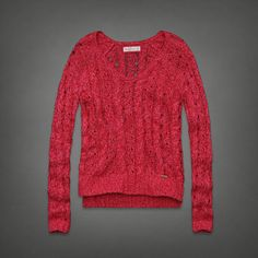 Heathered Cable Knit Sweater | Abercrombie.com | Check out our Pin To Win Challenge at http://on.fb.me/UfLuQd