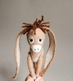 Nestor The Long-Eared Christmas Donkey. Art Toy. by TwoSadDonkeys