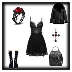 """""""Elena Retli"""" by sschiele ❤ liked on Polyvore featuring Alexander McQueen, Jakke, Demonia and Marc Jacobs"""