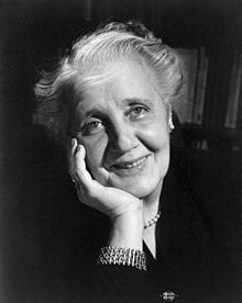 Melanie Klein 1952. Bertie's mom Irene makes frequent references to her in 44 Scotland Street
