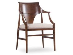 Shop for Hooker Furniture Studio Jens Danish Arm Chair, and other Dining Room Chairs furniture. Hooker Furniture, Large Furniture, Quality Furniture, Furniture Making, Furniture Online, Furniture Ideas, Upholstered Arm Chair, Dining Arm Chair, Dining Room Chairs