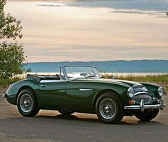 Make a big statement in this classic Austin Healey in British Racing Green. #WildWednesday