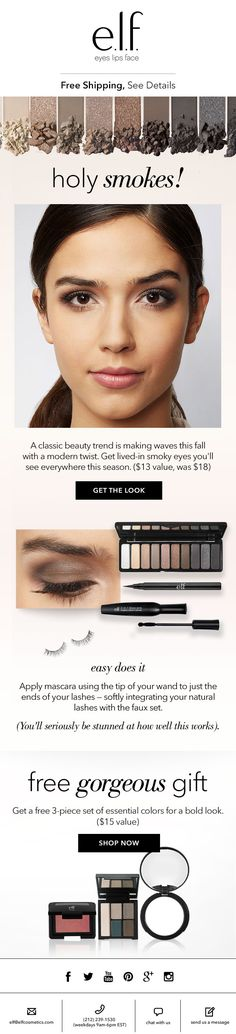 Get the look you'll see everywhere this season for just $13 (an $18 value!) CLIENT: e.l.f. Cosmetics Built by: Mark Nayve | SellUP