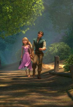 Awhh pin if u think Rapunzel and Eugene is the cutest disney couple ever Disney And Dreamworks, Disney Pixar, Disney Magic, Disney Art, Disney Rapunzel, Tangled Rapunzel, Disney Princesses, Disney Characters, Rapunzel And Eugene