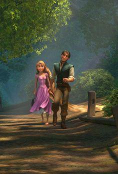 Rapunzel and Flynn.