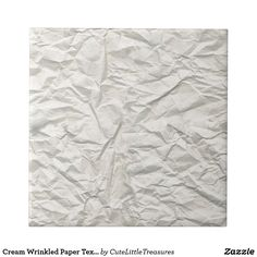 Cream Wrinkled Paper Texture