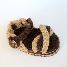 Baby Crochet Pattern Twist Sandals Booties PDF 8 by Genevive, $4.95