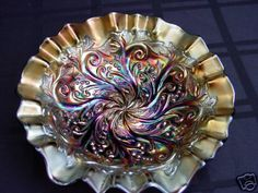 Millersburg Seaweed Carnival glass...I have this one and it's beautiful up close with the light playing off all the colors