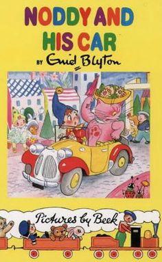 Noddy.'in het nederlands. Als ik ziek was kreeg ik een noddie boekje. had een leuke serie. noddie en zijn auto was het 1e exemplaar