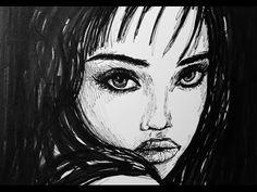 Schnelle Zeichnung einer Frau | Video