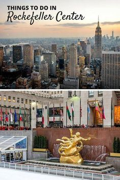 Located in Midtown Manhattan, it's nearly impossible to visit New York without going to the city's most famous landmark. Not only it is hard to miss, but there are so many different things to do in Rockefeller Center that its a must on any trip to NYC New York Vacation, New York City Travel, York Things To Do, Fun Things, Travel Usa, Travel Tips, Travel 2017, Travel Stuff, Canada Travel