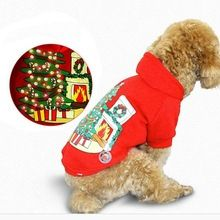 2016 Creative Fleece Pet Cat Dog Costume Soft Warm Dogs Clothes LED Pet Dog Hoodie Sweater Coat Puppy Christmas Costume Clothes(China (Mainland))