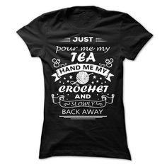 CROCHET and TEA T Shirts, Hoodies. Get it now ==► https://www.sunfrog.com/Funny/CROCHET-amp-TEA-Ladies.html?41382 $22.99