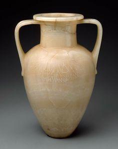 Shouldered jar with vertical handles -  Egyptian, New Kingdom, Dynasty 18, 1550–1295 B.C.