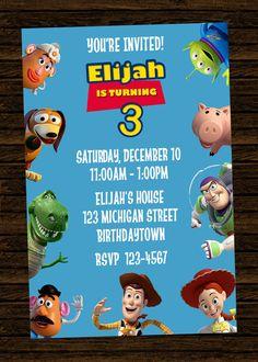 Custom Disney Toy Story Inspired Birthday Party Invitations - DIY Printable File. $8.00, via Etsy.