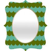 Deny Designs Holli Zollinger Waves of Color Quatrefoil Accent Mirror Size: Leaning Mirror, Round Wall Mirror, Wall Mounted Mirror, Dresser With Mirror, Floor Mirror, Distressed Bathroom Vanity, Cracked Wall, South Shore Decorating, Contemporary Wall Mirrors