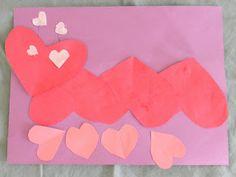 Valentine's Day Heart Caterpillar Preschool Craft