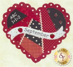 Celebrate the Year - September Kit: Celebrate the Year is a Shabby Exclusive designed by Jennifer Bosworth! Create adorable seasonal decor for your home by framing it, making a pillow, or making a quilt!This is the Block 9 - September Kit, which includes all instructions and materials (fabrics, wool felt, and embellishments) needed to complete the block that finishes at 10 1/2