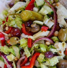 Foods For Long Life: Vegan And Gluten-Free Antipasto Salad The Perfect Start To A Holiday Dinner Italian Salad Recipes, Salad Recipes For Dinner, Pasta Salad Recipes, Salad Recipes Gluten Free, Raw Food Recipes, Healthy Recipes, Healthy Sweets, Healthy Meals, Free Recipes