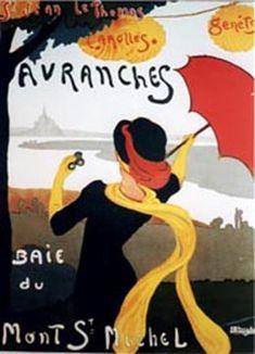 A. Bergevin Baie du Mont St-Michel/ Avranches c. 1930: Imp. du Syndicat d'initiative d'Avranches 31 1/4 x 43 3/4 in<<<Cerutti Miller - Original Antique French Posters