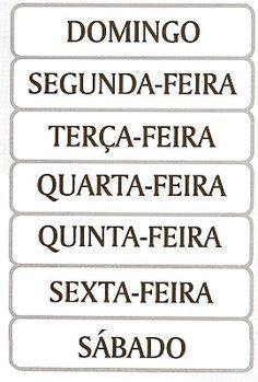 No Império Romano, a astrologia introduziu no uso popular a septimana, ou seja, sete manhãs, de origem babilônica. Inicialmente, os nomes do...