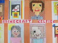 Minecraft Selfies! Could even pair up with math teacher to find perimeter, area, fractions ...